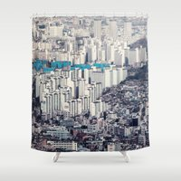 metropolis Shower Curtains featuring Metropolis by Karolina Ostrowska
