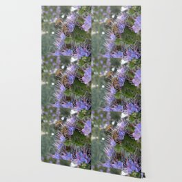 Bees on Buddleia Wallpaper