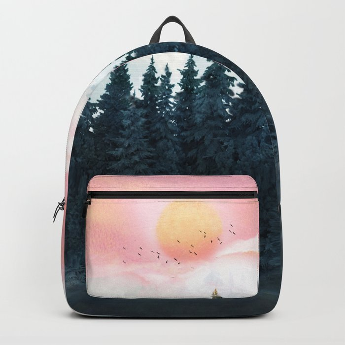 Forest Under the Sunset Rucksack