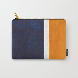 Navy Blue Yellow Ochre Abstract Minimalist Rothko Colorful Mid Century Color Block Pattern Carry-All Pouch