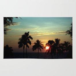 Sunset at Mauna Kea Beach, Hawaii Sky Rug