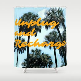 Unplug and Recharge Shower Curtain