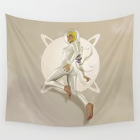 sci fi Wall Tapestries featuring Sci-Fi PinUp by Bart De Keyzer