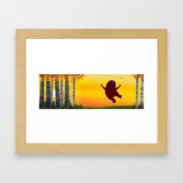 I found a bigfoot Framed Art Print