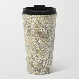 Gold Leaf Crackle Sparkle Travel Mug