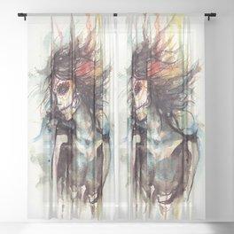 sugarskull Sheer Curtain