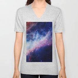 Space Nebula Unisex V-Neck