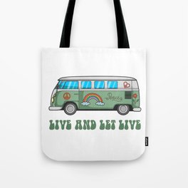 Hippie Bus T-Shirt Tote Bag