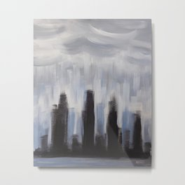 GLOOMY CITY Metal Print