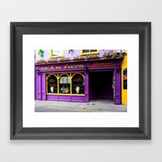 Colorful Irish Pub Framed Art Print