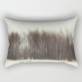 Abstract Trees in Winter Rectangular Pillow