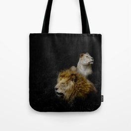 Pride - Lioness and Lion Couple Goals Tote Bag