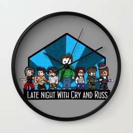 Late Night with Cry and Russ Pixel Art Wall Clock