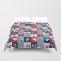 nautical Duvet Covers featuring Nautical by Julscela