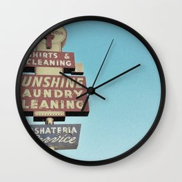 Sunshine Laundry Cleaning Wall Clock