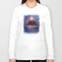 lights Long Sleeve T-shirts featuring Energy & lights by Viviana Gonzalez