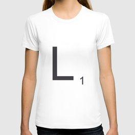Scrabble L T-shirt