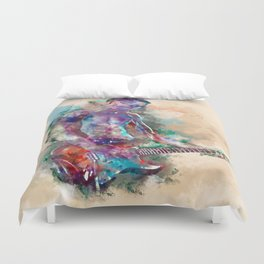 Guitar Boy Duvet Cover