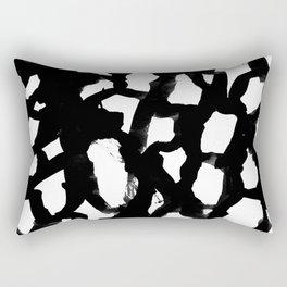 Elia - abstract painting minimal modern art print home decor must haves Rectangular Pillow