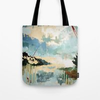 building Tote Bags featuring Building by dorilovesnico