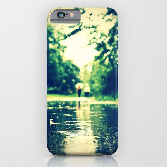 A rainy walk iPhone & iPod Case