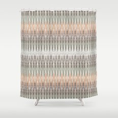 Ikat Abstratct Lines Shower Curtain
