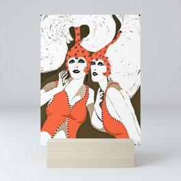 Woman Flappers Mini Art Print