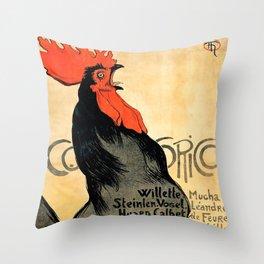 "Théophile Steinlen ""Cocorico"" Throw Pillow"