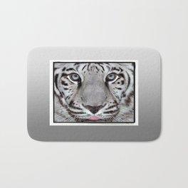 White Tiger with a little tougue Bath Mat