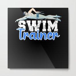 Swim Trainer Metal Print