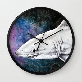 Galaxy Shark Wall Clock
