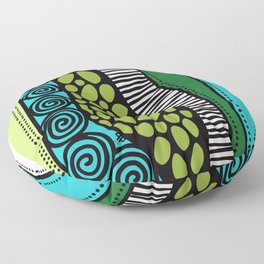 Green Dive -Plongeon vers-textures Floor Pillow