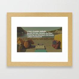 beside the lake Framed Art Print