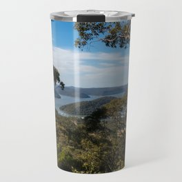 View of Hawkesbury River from Muogamarra Reserve, Sydney Travel Mug