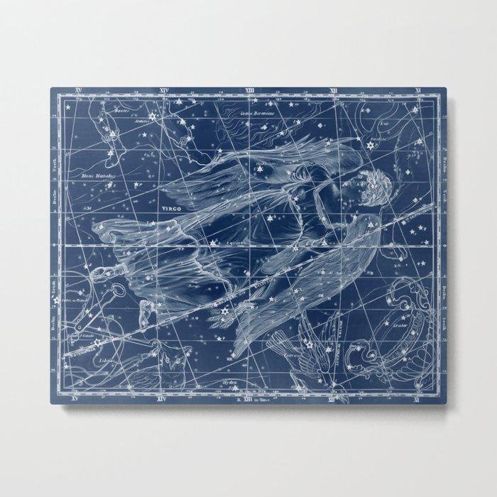 Virgo sky star map Metal Print