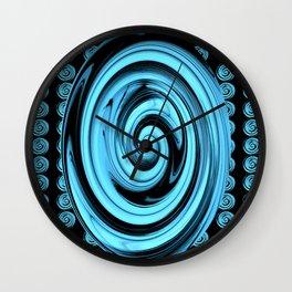 Swirling Blue galaxies.... Wall Clock