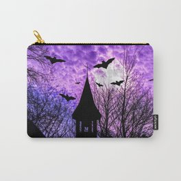 Bats in a full moon night Carry-All Pouch