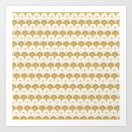Beautiful Pattern #4 Golden Chrysanthemum Art Print