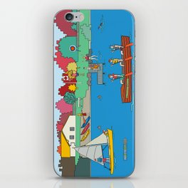 Canoeing Summer Camp iPhone Skin
