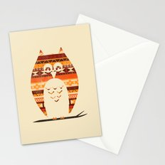 Native Owl Stationery Cards