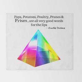 Papa, Potatoes, Prunes, Prism Throw Blanket