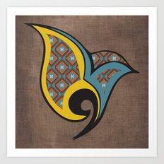 Persian Bird Art Print