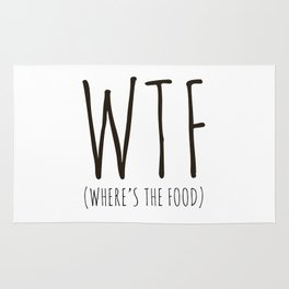WTF - Where's The Food? Rug