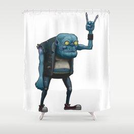 Metal Goblin Shower Curtain