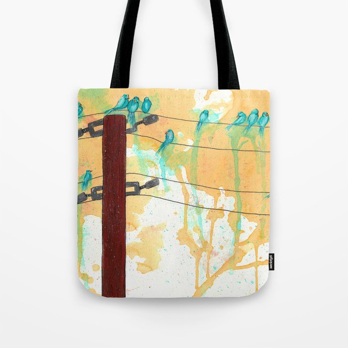 Birds on the Line Tote Bag