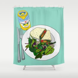 Healthy Falafel Wrap Lunch Shower Curtain