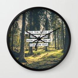 Dirt Paths Wall Clock