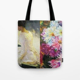Love in the Afternoon, The Two Lovers portrait painting by Helene Cramer & Franz Gullery Tote Bag