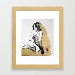 HOMMAGE A SCHIELE Framed Art Print