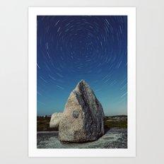 Erratic Rotation Art Print